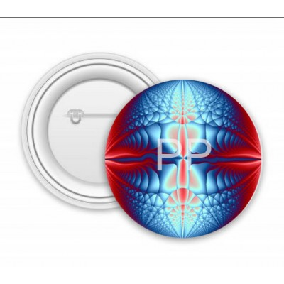 Blue Red Fractal Ball Art
